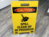 Spill Clean Up - Safety Sign