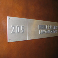 Brushed Aluminum Door Sign