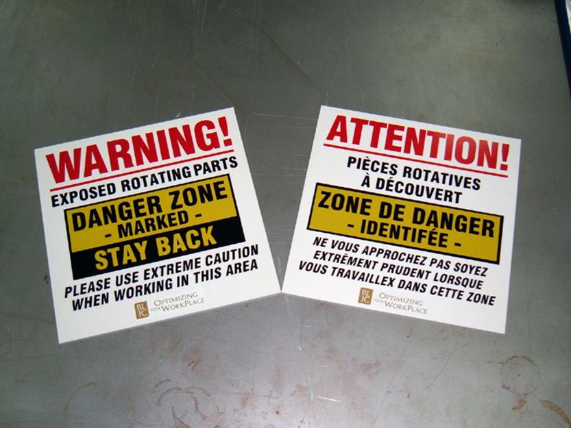 Safety Signs and Hazard Signs - Warning Rotating Parts